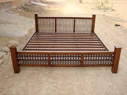 Indian Double Bed Designs In Wood Indian Bed Furniture Probrains Org