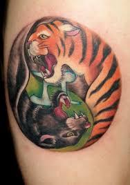 yin yang panther tiger design free designs cool