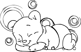 sleeping baby winnie the pooh coloring page wecoloringpage