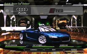 Audi R8 Top Speed - need for speed underground 2 cars by audi nfscars