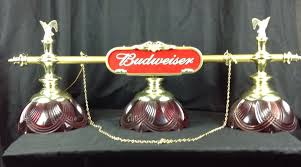 budweiser stained glass pool table light vintage budweiser pool table hanging light game room bar man cave