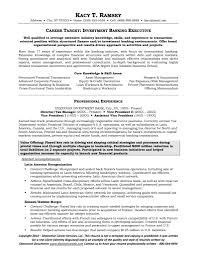 Investment Banking Resume Sample by Sample Resume For Investment Banking Free Resume Example And