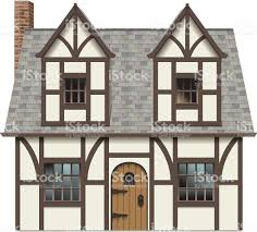 English Tudor by Old English Tudor Home Stock Vector Art 455462079 Istock