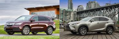 lexus nx vs rx head to head 2016 acura mdx vs 2016 lexus nx 200t autonation
