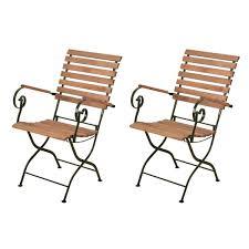 chaises pliables esschert design lot de 2 chaises pliables bois métal vert chaise