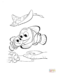 marlin nemo coloring free printable coloring pages