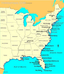map of east coast states map east coast usa my