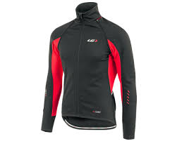 convertible cycling jacket mens louis garneau spire convertible bike jacket black red