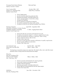 Quality Auditor Resume Quality Auditor Resume Sample Best Format