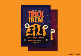 halloween trick or treat flyer layout 1 buy this stock template