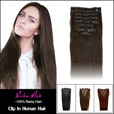 human hair clip in extensions human hair clip ins for black hair 7 8 10 pcs remi clip in human