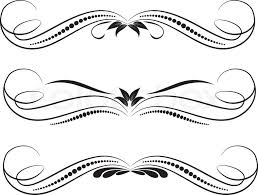 vector decorative design elements page decor stock vector
