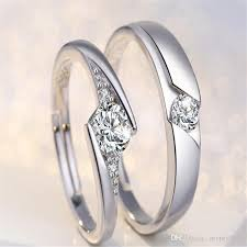love rings designs images 2018 new fashion 30 silver white gold open size zircon love jpg