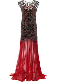 buy mermaid vintage 20s style gatsby flapper red long cocktail
