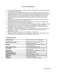 sample resume net developer cover letter sample qa analyst resume sample senior qa analyst cover letter qa analyst resume example qa samples visualcv sle agile tester best format investment strategies