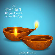 diwali cards happy diwali card with blue background vector free