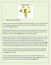 family reading comprehension and other activities interactive