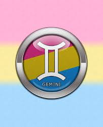 Blue Flag With Yellow Circle Gemini Pansexual Pride Pansexual Pride Gemini Horoscope Symbol