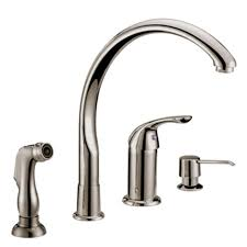 henton kitchen faucet with side spray kitchen traditional brilliant delta 300lf wf classic series single handle