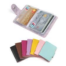 fashion 24 bits useful business credit card holder pu leather
