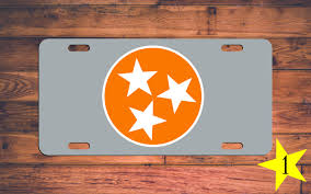 Tennessee Vols Home Decor Tennessee Vols Vanity License Plate Tn Volunteers Car Tag 3