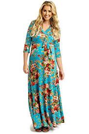 sleeve maxi dress pinkblush maternity floral draped 3 4 sleeve maxi dress at