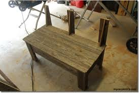 Rustic Bench Seat Rustic Bench Plans Make Your Own Bench Using Old Fence Boards
