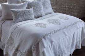 lili alessandra marrakech white linen with white linen applique