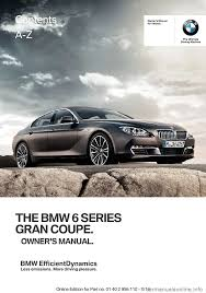 bmw 6 series gran coupe 2014 f06 owner u0027s manual