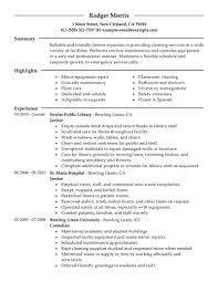 resume objective example resume objective examples for janitorial frizzigame office cleaning resume objective best resume format for students