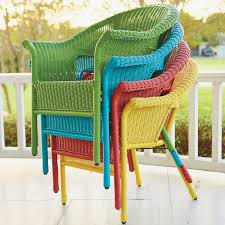 Green Wicker Patio Furniture - roma all weather wicker stacking chair outdoor chairs brylanehome