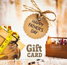 happy fathers day gifts happy fathers day gift card for the diy stock photo more