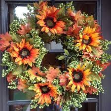 sunflower wreath autumn green apple sunflower wreath 24 flora decor