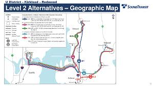 Kirkland Washington Map by Sound Transit U0027s 520 Eastside Options