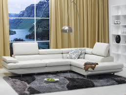 Modern Leather Living Room Furniture White Ultra Modern Leather Sectional Sofa For Modern
