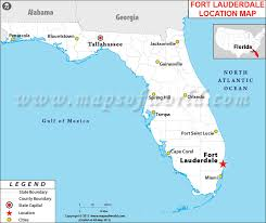 map of ft lauderdale where is fort lauderdale located in florida usa