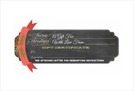 christmas gift certificate template 11 word pdf documents