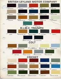 bmc british leyland paint code chips 1970 1972 austin paint