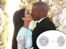 kanye west earrings s diamond wedding earrings were a gift from kanye
