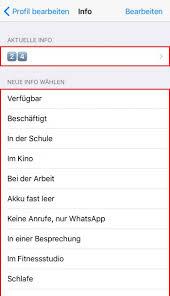 status sprüche whatsapp whatsapp status ändern und statussprüche einstellen am iphone