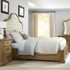 Verona Bed Frame Verona Wood Upholstered Panel Bed In Light Humble Abode