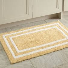 yellow u0026 gold bath rugs u0026 mats you u0027ll love wayfair