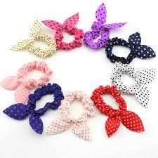 baby hair ties baby girl rabbit ear hair ties kids elastic striped dot headband
