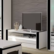 Meuble Salon Noir Et Blanc by Meuble Tv Lina Coloris Blanc Noir Par Price Factory