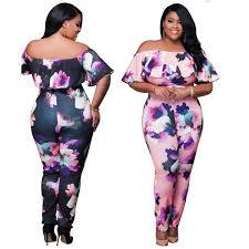 plus size jumpsuit plus size shoulder floral print jumpsuit addicted2fashion