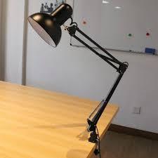 Desk Lighting Ideas Aliexpress Buy Black E27 Flexible Swing Arm Desk Lamp Swing Arm
