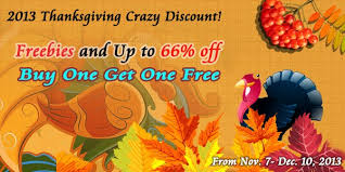 2013 thanksgiving special offer freebies up to 66 and buy