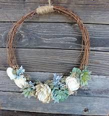 handmade home decor faux succulent sola flower wreath handmade home decor rustic