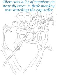 cap seller story coloring page for kids 7