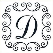 monogram letter die cut vinyl decal pv1320 snc split monograms